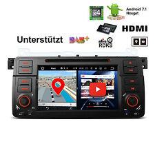"1 DIN Android 7.1 Autoradio CD DVD USB 2GB RAM 7"" GPS Navi HDMI DAB+ für BMW E46"