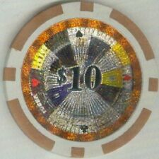 10 pc 11.5 gm ROULETTE Hologram  $1 to $10000 poker chip samples #163
