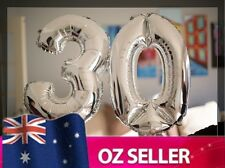 "Silver Foil Helium number balloon - 30th Brithday Party 40"" inch 100cm SYD STOCK"