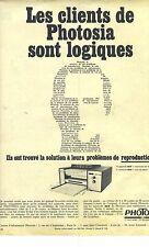 PUBLICITE 1966   PHOTOSIA photocopieur reproduction