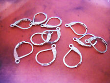 6 Leverback Earring Findings Shiny Silver Tone Lever Earring Wires Ear Wires