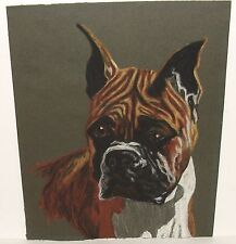 """BOXER DOG ORIGINAL SMALL 8"""" X 10"""" PASTEL PAINTING UNSIGNED"""