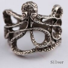 Littlebella Jewellery Steampunk Octopus Silver Nautical Statement Ring Size J