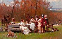 The Gathering by Adrien Moreau 75cm x 46.8cm Canvas Print