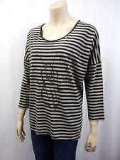 Unifarbene Damen-T-Shirts aus Baumwolle Gestreifte