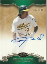 2012 Topps Tier One Jemile Weeks Oakland Athletics Autograph Auto Card