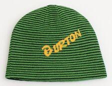 Burton Signature Reversible Green & Black Beanie Skull Cap Youth One Size NWT