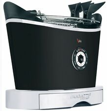 Bugatti Volo Matt Black 2 Slice Toaster 13-VOLON/UK- Free Shipping