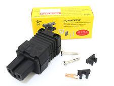 Genuine 1x Furutech FI-15E (R) Rhodium IEC Power Plug connector