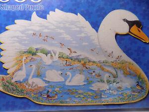 SWAN LAKE 1000 Piece JIGSAW PUZZLE Shaped Like Swan FX Schmid Germany Sealed