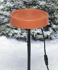 Heated Bird Bath With Metal Stand, Terra Cotta by Allied Precision