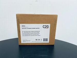 USB Type C To Gigabit Ethernet Adapter - C2G - 89052 - Gigabit - Boxed