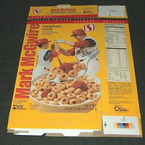 1999 Safeway Mark McGwire & Son, Tony La Russa Replica Signature Cereal Box