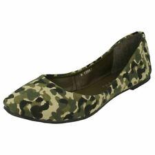 Anne Michelle L4R951 Ladies Camouflage Flat Slip On Shoes (R30A)