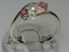 Unbranded Round Pearl Sterling Silver Fine Rings
