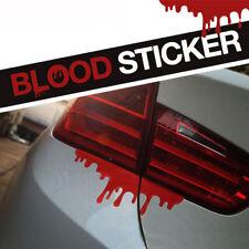 Funny Car Bleed Sticker SUV Headlight Rear Trunk Red Bleeding Creative Decals