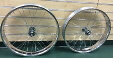 "MBI Fat 26"" x 4.0 Rear & Front Bicycle Wheel 7 speed 36 spokes Disc Brake polish"
