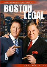 Boston Legal The Complete Fifth Season 5/Final(DVD,2009,4-Disc Set)NEW
