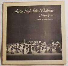 Austin High School Orchestra George Webber Conductor LP Album 1960 Century Recor