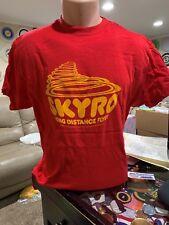 Frisbee Vintage Flying Disc Shirt Skyro The Long Distance Flyer Men's X L 4648