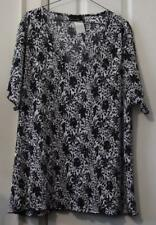 BRITTANY BLACK CRINKLE SPARKLE TUNIC, SIZE 3X (24) REDUCED