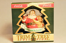 Enesco: Santa in Ring - Coca-Cola - Trim A Tree - Christmas is Love - Ornament