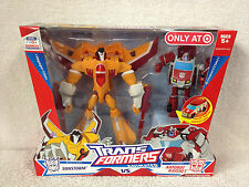 SUNSTORM vs RATCHET 2008 Transformers Animated  TARGET Exclusive **MINT Box!