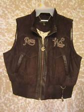 Girls Sz. 16 Rocawear Vest Outerwear Brown Suede NICE