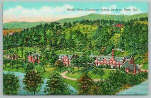 Rome Georgia~Aerial View~Darlington School For Boys~Vintage Postcard