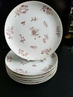 "JYOTO JULIE 8107 FINE CHINA JAPAN 6 DINNER PLATES 10 1/4"" DIAMETER. EXCELLENT"