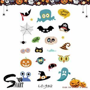 Kids Halloween Cartoon Symbols Bat Vampire Temporary Mini Tattoo Sticker LC932