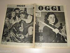 OGGI=1951/27=ANNA MARIA ALBERGHETTI=ROSSANA PODESTA BIANCANEVE=JUNE ALLYSON=