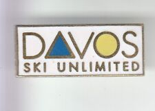 RARE PINS PIN'S .. SPORT HIVER SKI SKIING ALPES PASS STATION DAVOS SUISSE ~DH