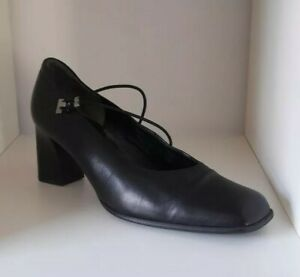 Gabor Black Leather Court Shoes Size 8 WORN ONCE