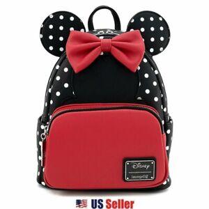Loungefly x Disney Minnie Mouse Polka Dot Cosplay Mini Backpack