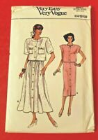 Vogue Pattern 9901 Very Easy Misses' Top & Skirt - Size 14-16-18 - New - Uncut