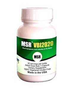 MSR VBI- Anti-Flu, Cold, Cough, Sore throat, Asthma, Chills & Fever-(Caps 30 ct)