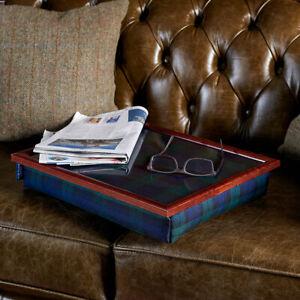 Bean bag lap tray cushion in Blackwatch Tartan design, handmade in the UK