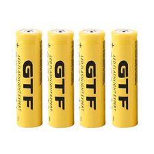 4pcs 3.7V 18650 9800mAh Li-ion Rechargeable Battery For Flashlight Torch UL