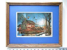 Terry Redlin MOONLIGHT RETREAT framed 11X14 m