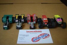 Vintage Galoob Micro Machines Tuff Trax Monster Truck Tractor Pullers Lot Of 5