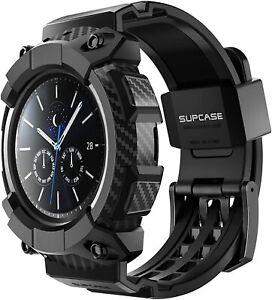 For Samsung Galaxy Watch 3 -- 45mm SUPCASE Wristwatch Bands Strap Watch Case UK