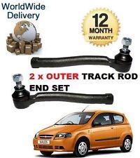 Para Chevrolet Kalos 1.2 1.4 2005 - & gt Izquierdo Y Derecho 2x exterior Pista Rack Rod End Set