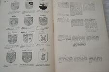 DE RENESSE-DICTIONNAIRE DES FIGURES HERALDIQUES T2-FASCICULE 4- PLANCHE 1894
