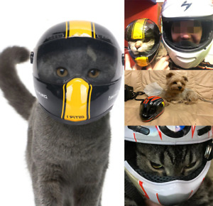 Pet Helmet Motorcycle  Anti-collision Hat for Small Dogs Cats Make Styling Photo