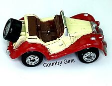 Micro Machines Vehicle Car MG TF 1954 Roadster Convertible T Series  Red Yellow