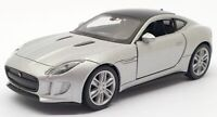 Welly 1/38 Scale 2244 - Jaguar F Type Coupe Pull Back and Go - Silver