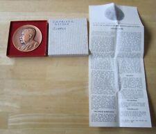 Teddy Roosevelt Charles Barber Commemorative Copper Medal in original box