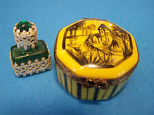 YELLOW, OCT. SAHPED WITH PERFUME  authentic FRENCH LIMOGES BOX  (  NEW  )