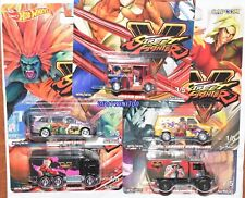 HOT WHEELS 2018 POP CULTURE CASE S STREET FIGHTERS SET OF 5 FORD MERCEDES HONDA